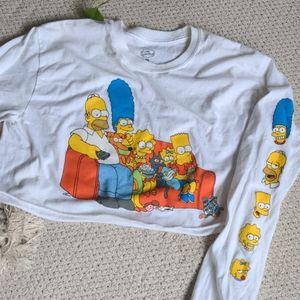 The Simpsons Long Sleeve Crop Top